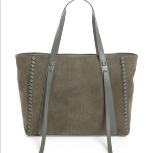 All saints Ray Nubuck East West Tote Grey